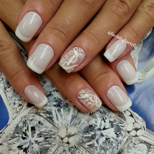 Fancy french nails art nails pinterest french nail art fancy french nails art prinsesfo Image collections