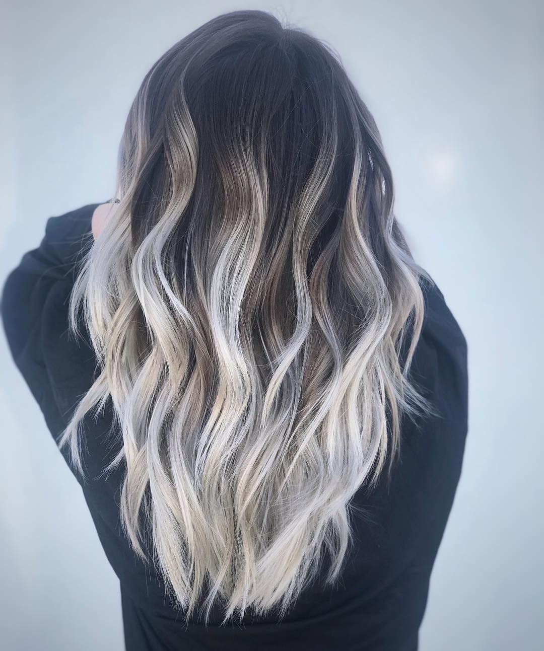 Shadow Root Icy White Blonde Hair Balayage White Blonde Hair