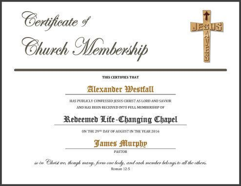 Free Certificate Template By HloomCom  Church    Free
