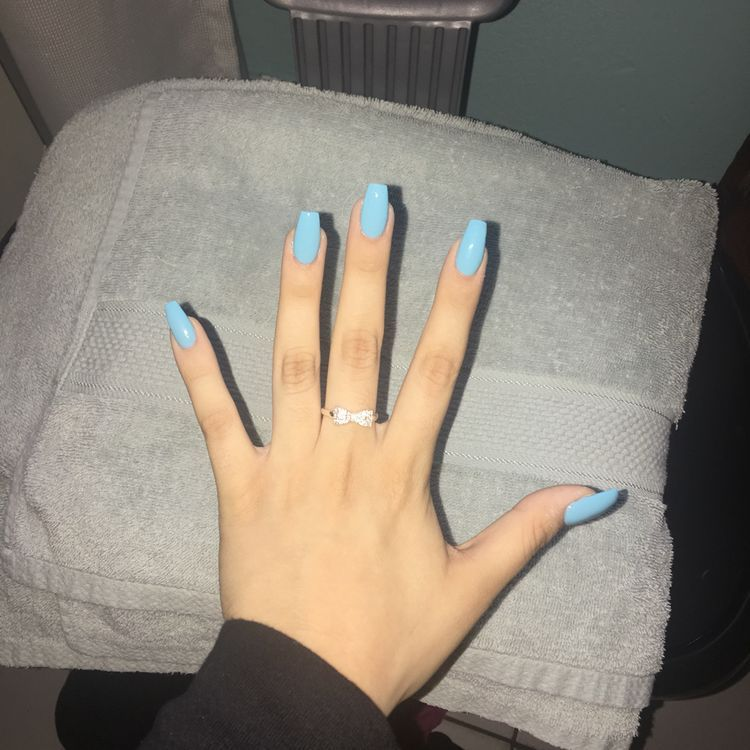 39 Acrylic Coffin Nails Designs 2019 Koees Blog Blue Coffin Nails Acrylic Nails Coffin Short Diy Acrylic Nails