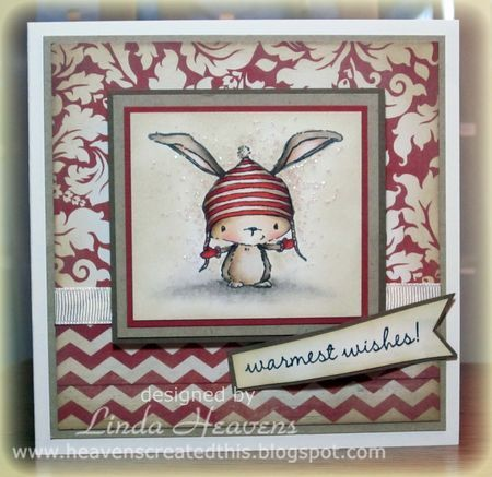 Linda Heavens - Birch Warmest Wishes Card | purple onion stamps