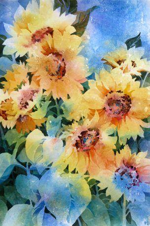 Gallery Bridget Austin Watercolor Sunflower Watercolor