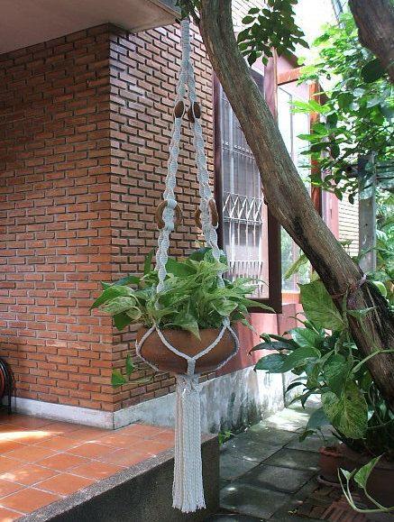 Macrame Plant Hanger 'Cirque' by handiworkclub on Etsy, $31.50