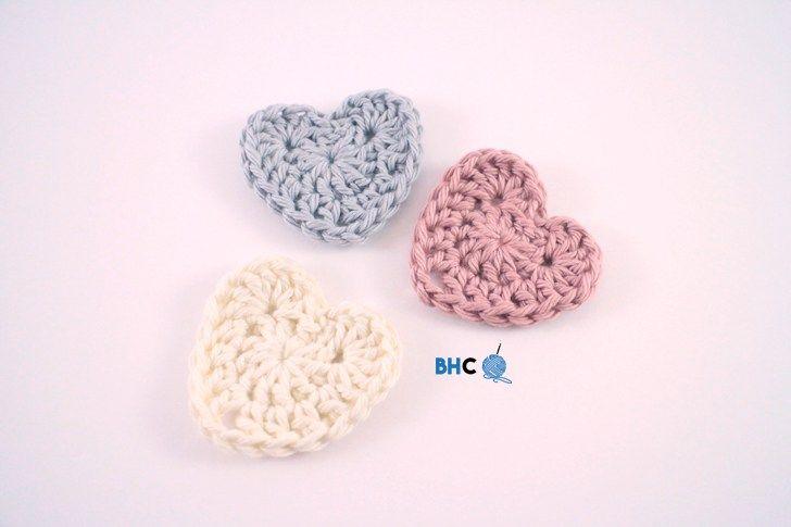 Sweet Crochet Hearts - Free Pattern & Video Tutorial
