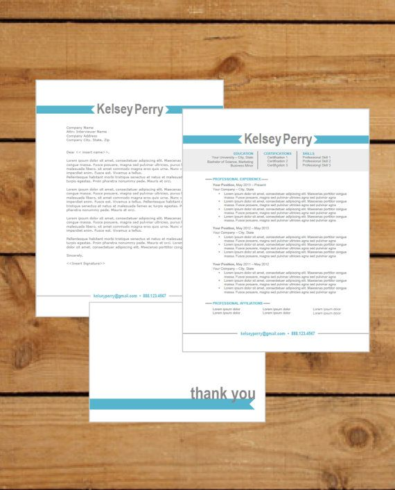 Resume Template Instant Word Document Download Cover Letter - resume word document download