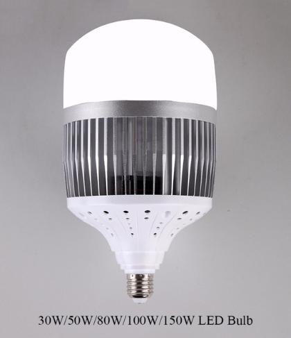 30W 50W 80W 100W 150W LED Bulb Light
