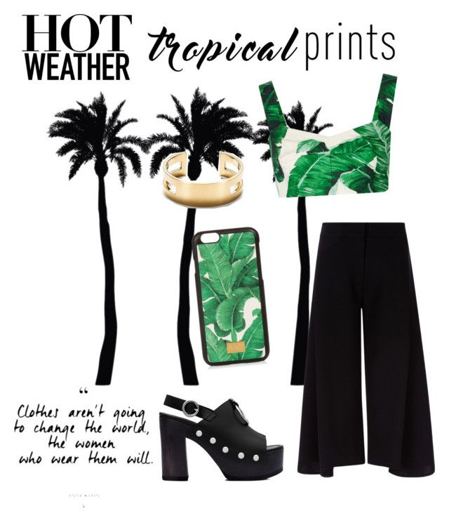 """""""TROPICAL PRINTS"""" by welovefashion3 ❤ liked on Polyvore featuring Dot & Bo, Dolce&Gabbana, Victoria, Victoria Beckham, McQ by Alexander McQueen, tropicalprints and hottropics"""