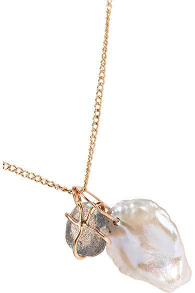 14-karat Gold Pearl Necklace - one size Melissa Joy Manning xyUWXxzk7