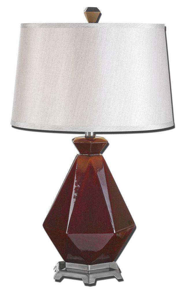 Parete Maroon Table Lamp By Designer Matthew Williams From Uttermost Lamp Table Lamp Uttermost Lighting