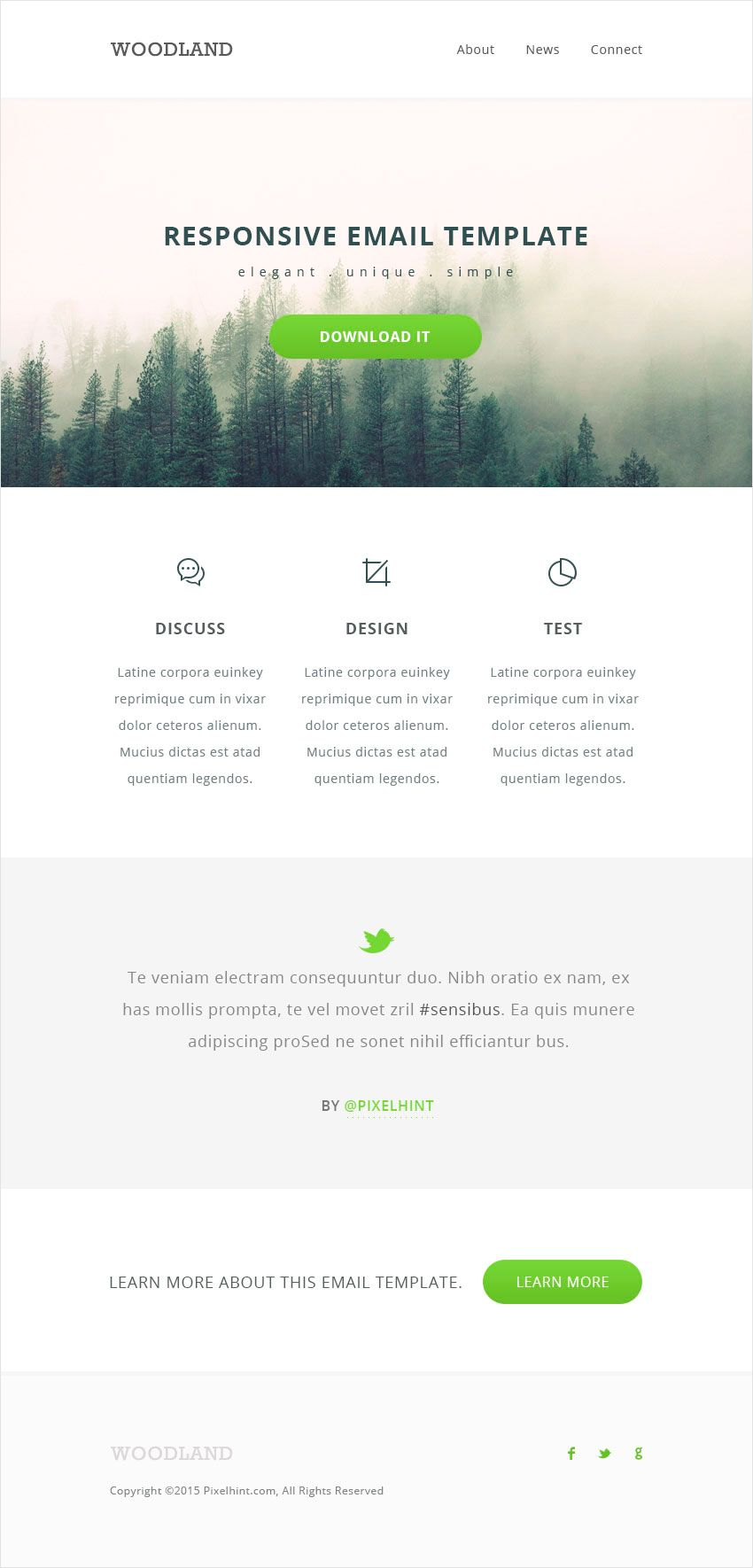 Responsive HTML Email Template Tutorial   Graphics & Web-Development ...
