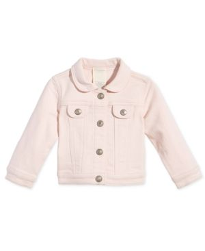 First Impressions Baby Girls Pink Denim Jacket Created For Macy S