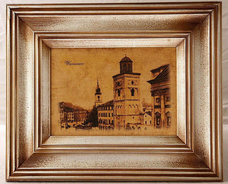 Stare Zdjecie Warszawy W Ramie Retro Old Paper Retro
