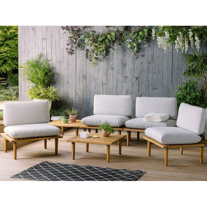 Dianne Outdoor 5 Piece Set With Cushions Allmodern Garden Sofa Set Outdoor Sofa Sets Garden Sofa