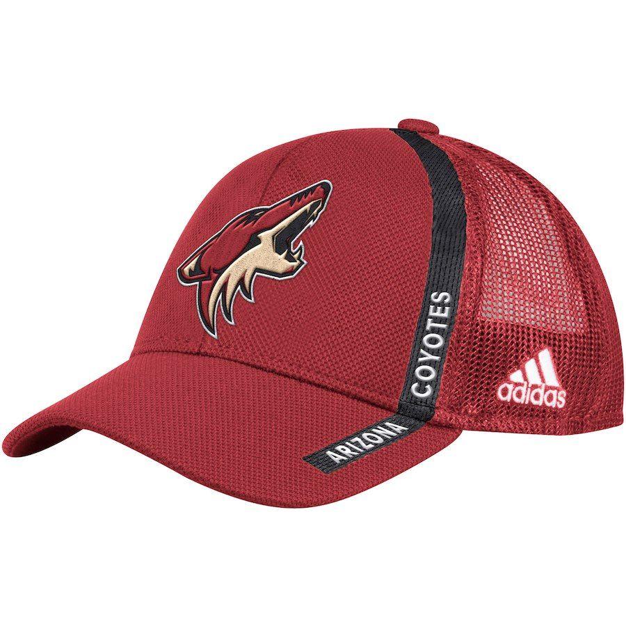 release date many fashionable super specials Men's Arizona Coyotes adidas Garnet Charlie Adjustable Snapback ...