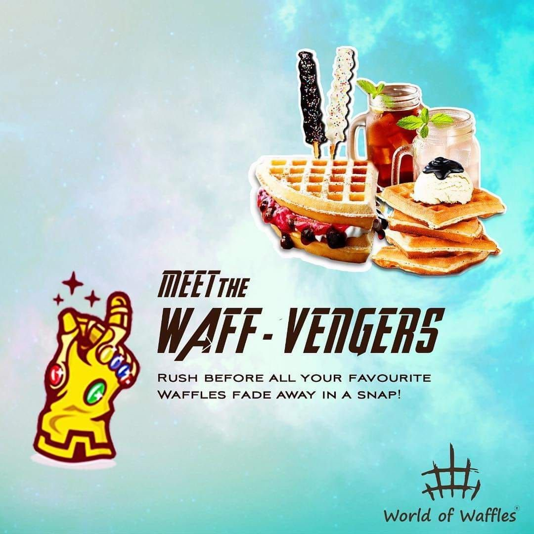 Meet the super powerful  Waff-Vengers at and satiate your cravings in a snap!