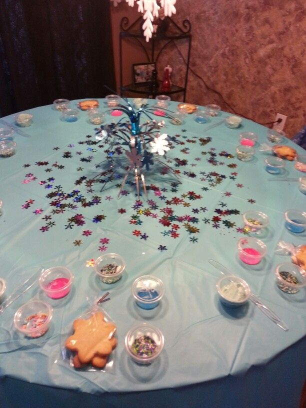 Disney frozen party frostyourownsnowflakecookie Possible birthday