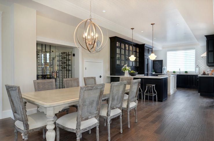 Open Space Grey Dining Room Table Dining Room French Restoration Hardware Dining Chairs