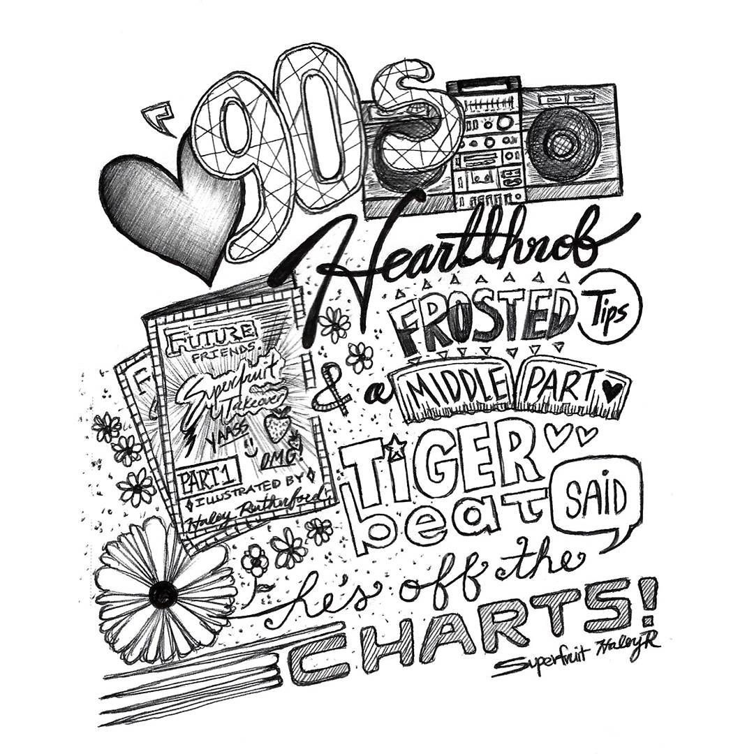 BW Lyrics Illustration Of Heartthrob By Sup3rfruit From Their New Album