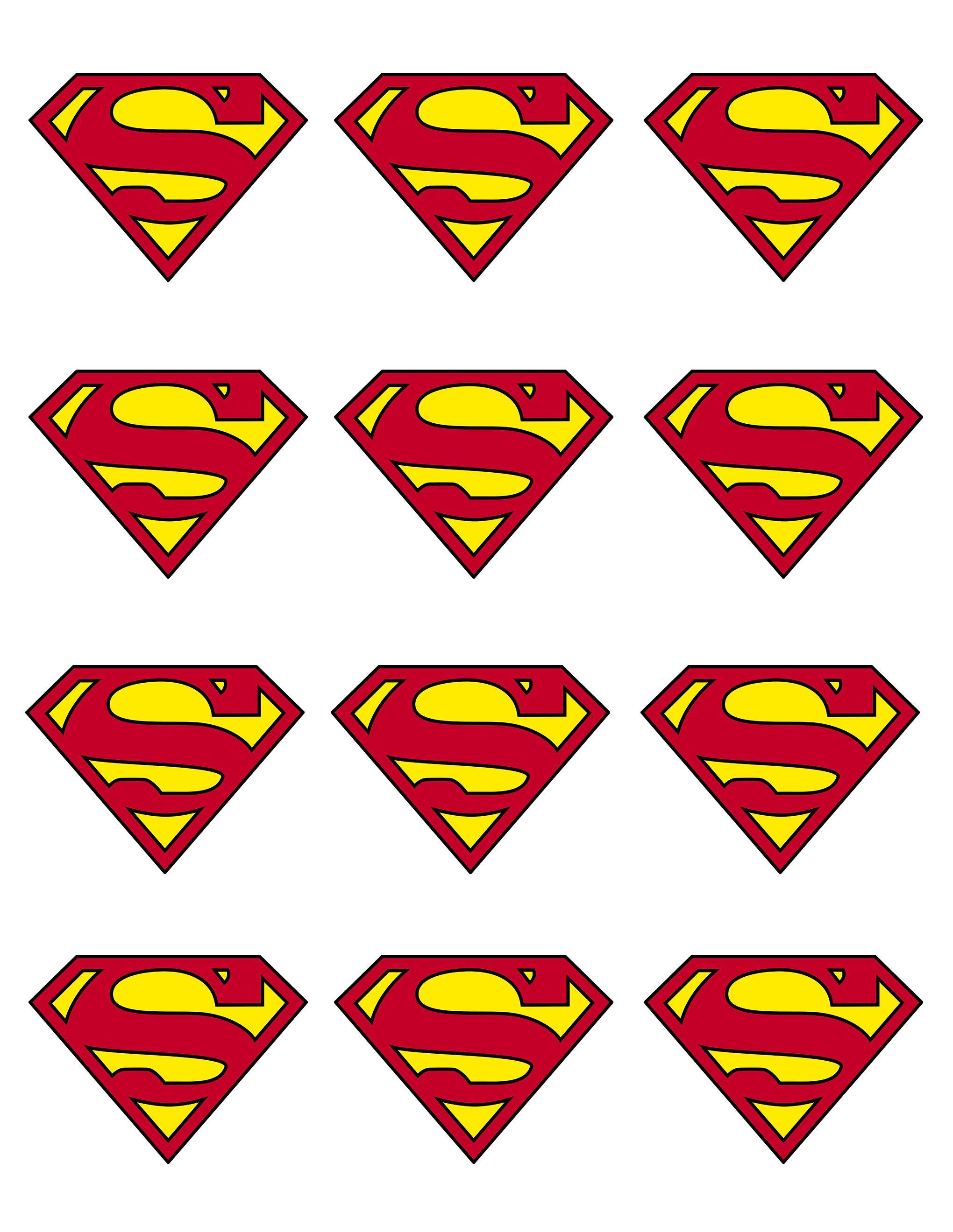 Printable batman symbol pin superman logo black for Superman logo template for cake