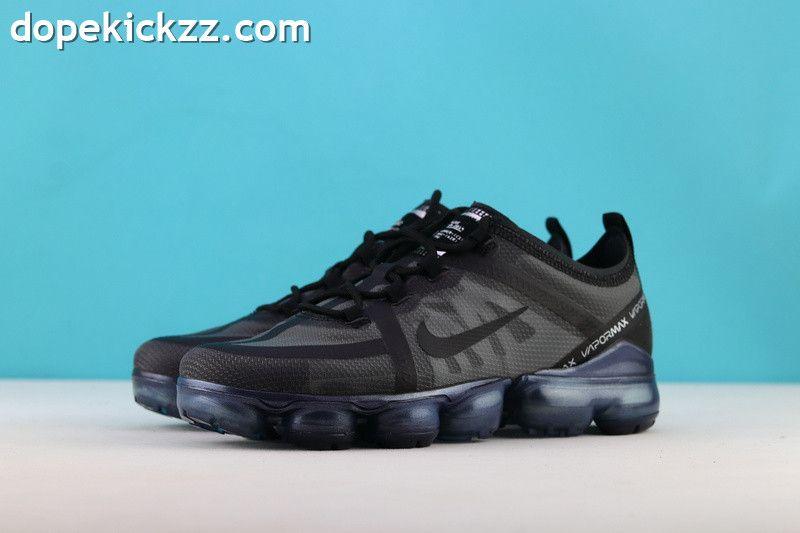 c12d6d548893 Latest Nike Air VaporMax 2019 Womens Sneaker AR6631-004 Online Black Deep  Blue