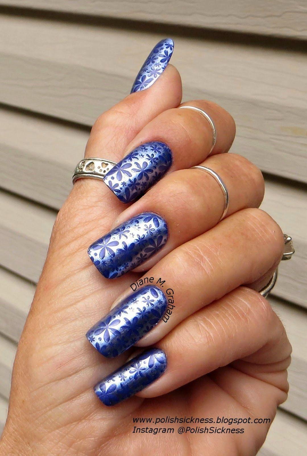 Sally Hansen Color Foil Leaden Lilac, China Glaze Queen B, LeaLac B stamp