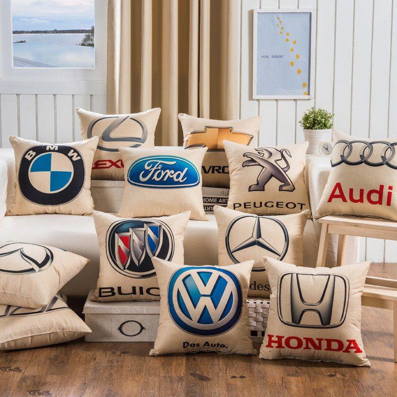 BMW Lexus Mercedes-Benz Audi Honda Ford Car Logo Pillow Case Cover Home Decor in Home & Garden, Home Décor, Pillows | eBay
