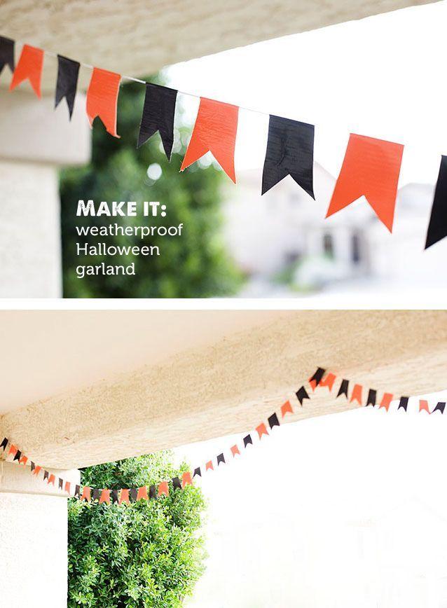DIY Outdoor Halloween Garland Best Holiday Posts Pinterest
