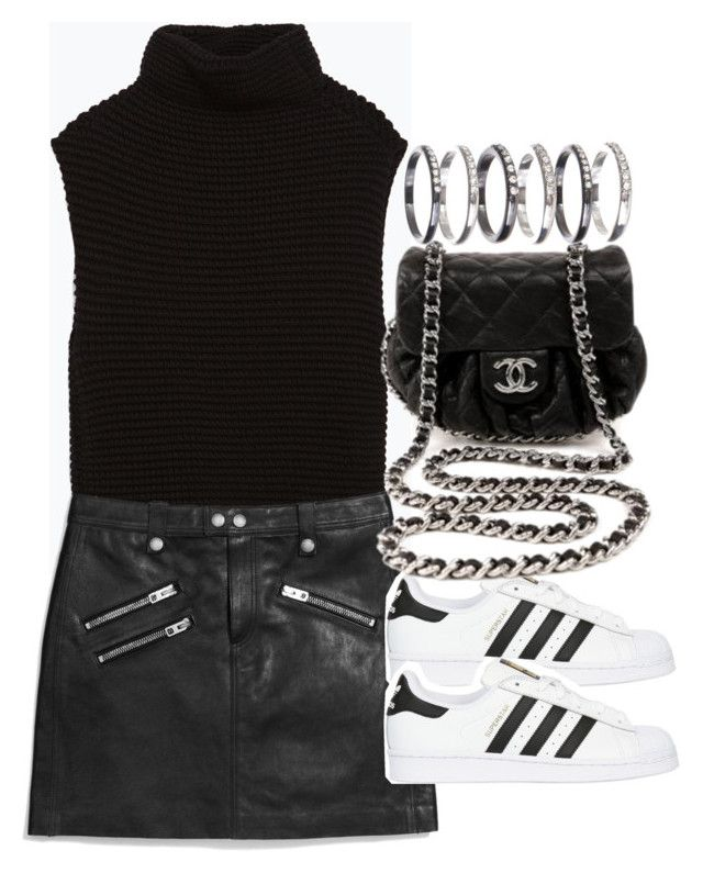 """Untitled #1513"" by sophiacscx ❤ liked on Polyvore featuring moda, Zara, Coach, adidas Originals, Chanel y M.N.G"
