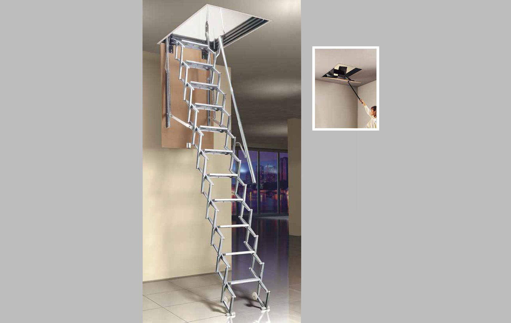 Scale rientranti scale a scomparsa scale per soppalchi - Legno per scale ...