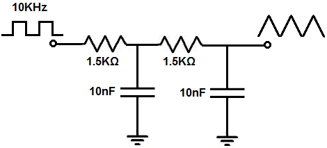 square to triangle wave converter circuit