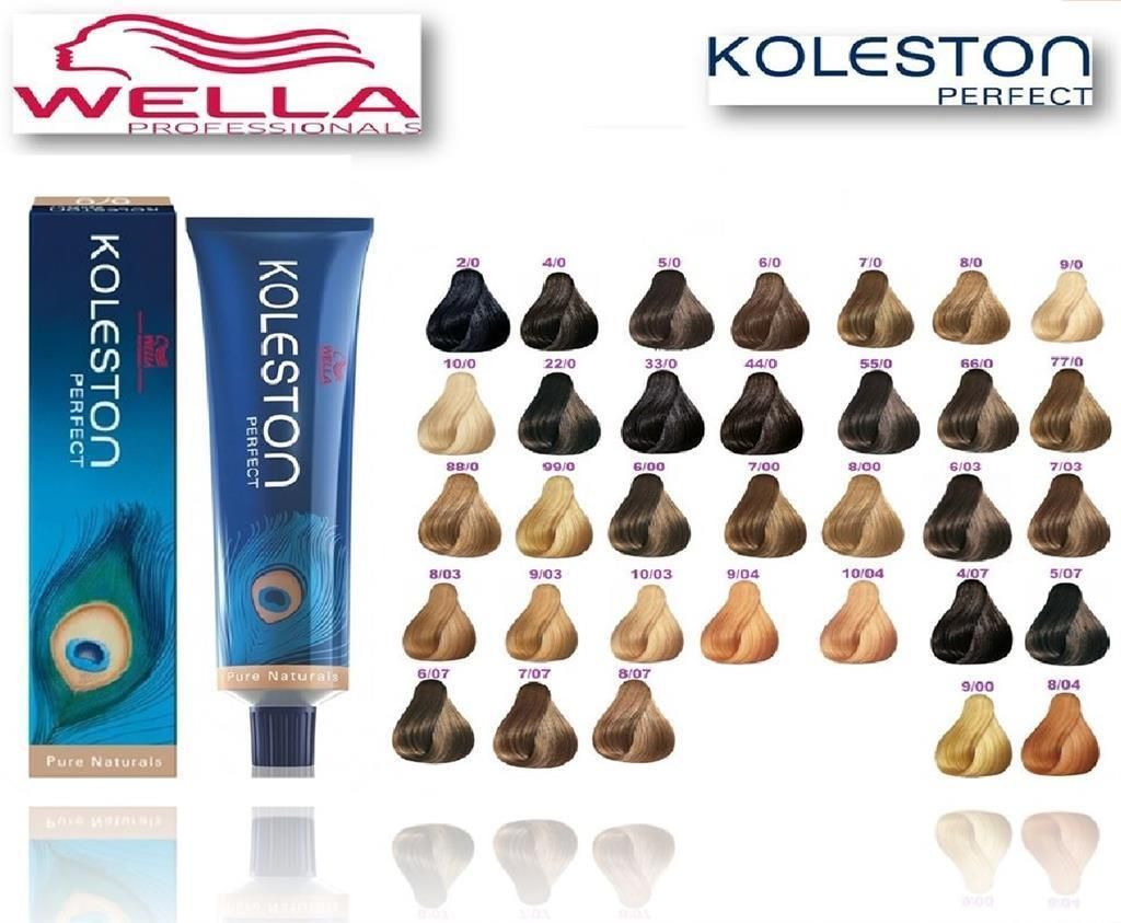 Wella koleston perfect genuine rich naturals range permanent colour dye also color chart pinterest hair and rh