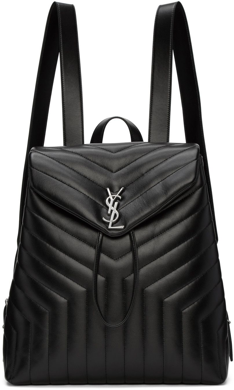 5f8d1fd57b0 SAINT LAURENT Black Medium Monogram Loulou Backpack. #saintlaurent #bags # leather #lining #backpacks #
