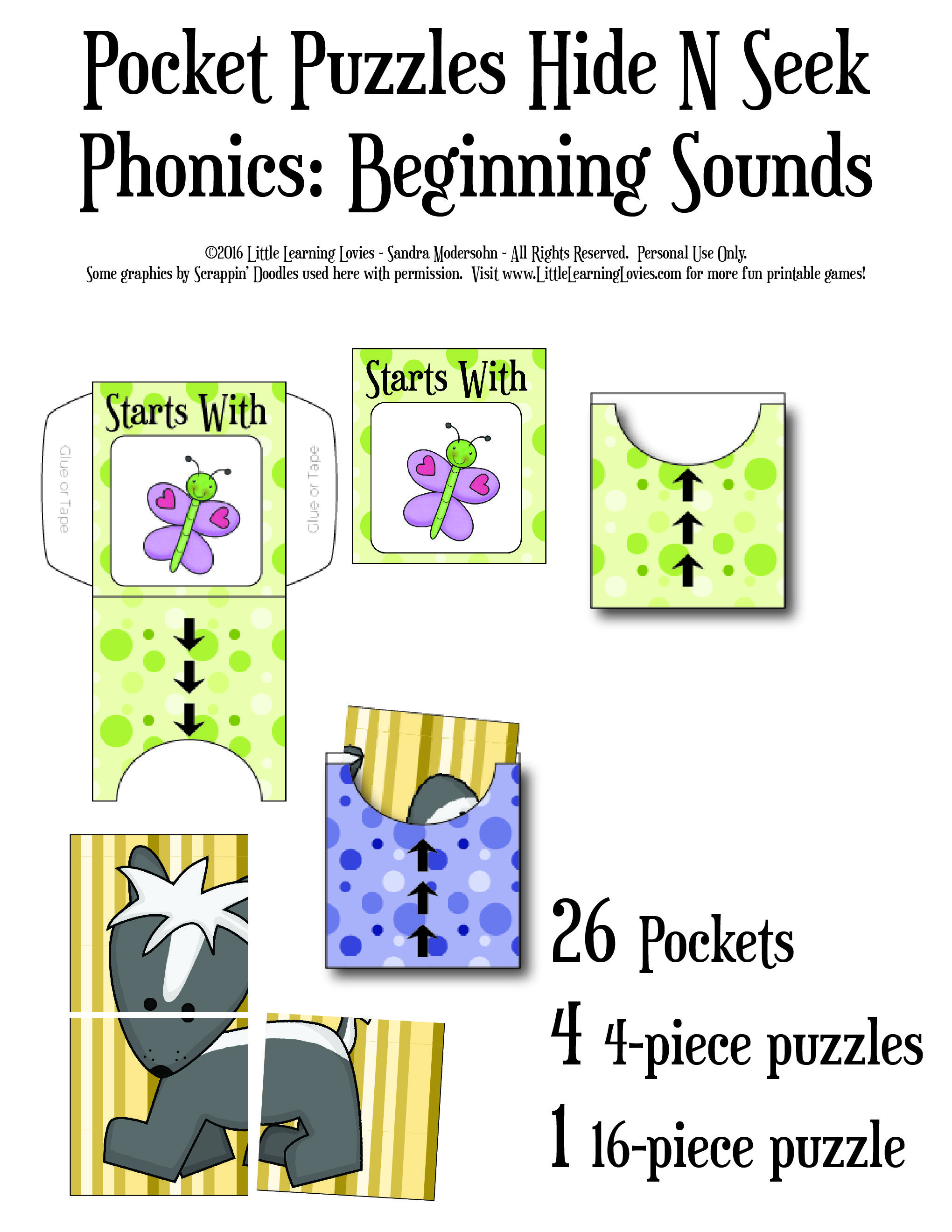 New For You Hide And Seek Pocket Phonics Game