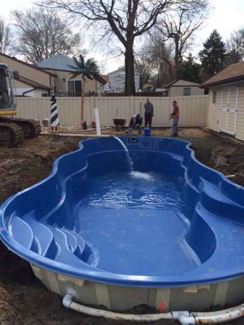 The First 6500 Gallons Of Water Being Introduced Into The Pool Diy Swimming Pool Small Swimming Pools Swimming Pools Backyard