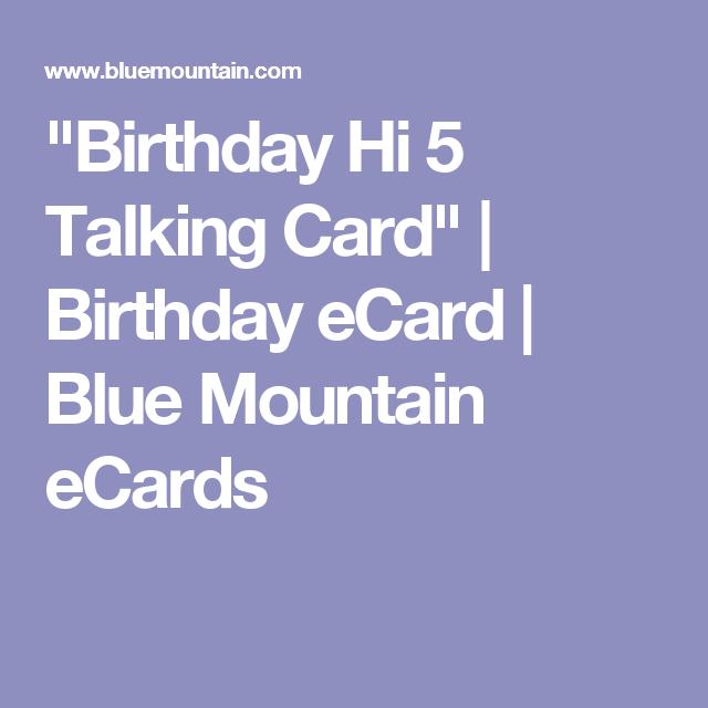 Birthday Hi 5 Talking Card