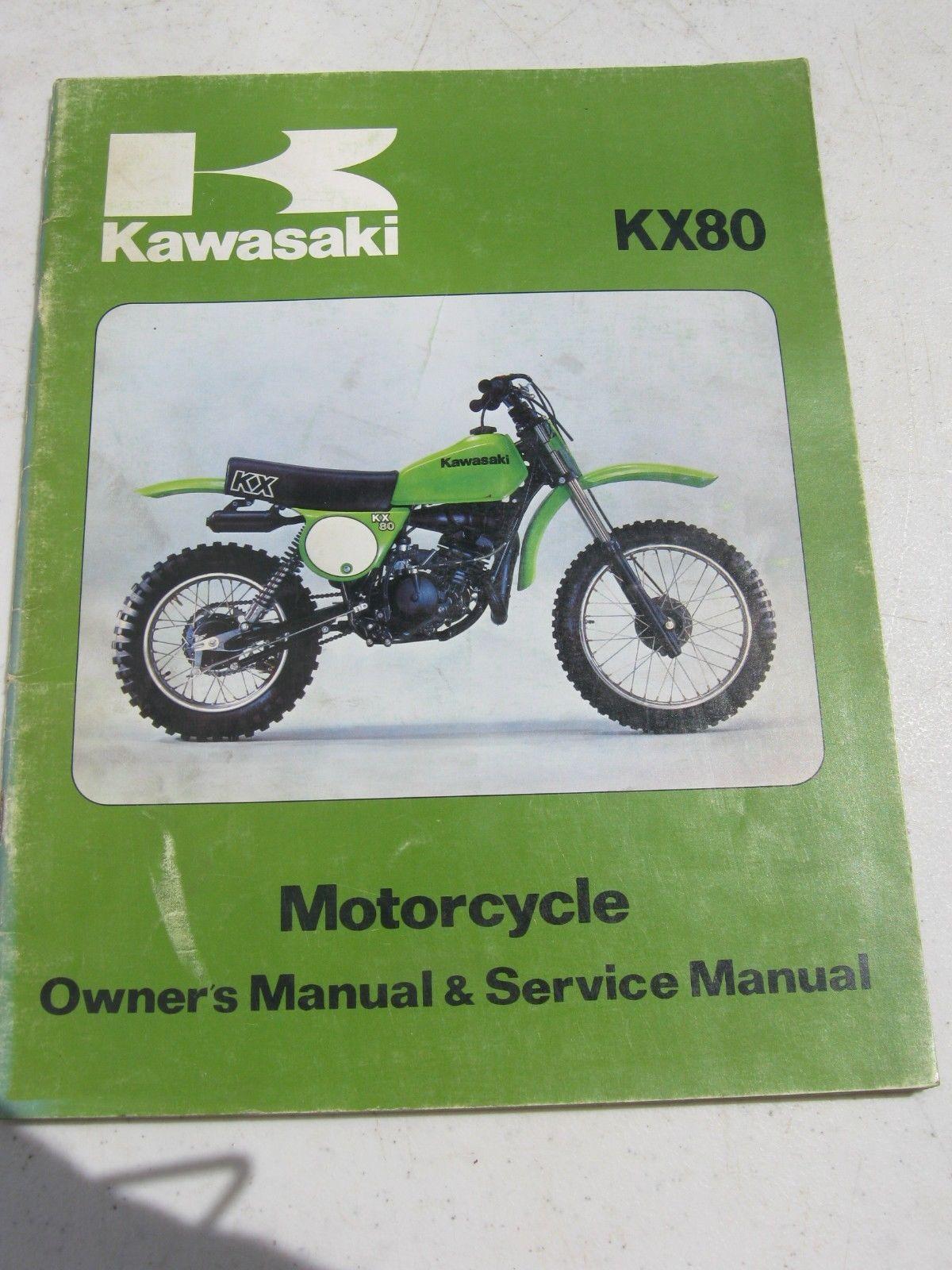 KAWASAKI KX80 MOTORCYCLE SHOP REPAIR SERVICE MANUAL 99920-1038-01 © 1978 |  eBay