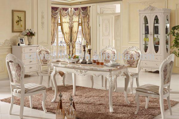 masif ahsap yemek masasi ve sandalye klasik fransiz tarzi yemek odasi mobilya fd001 dining table solid wood dining table dining