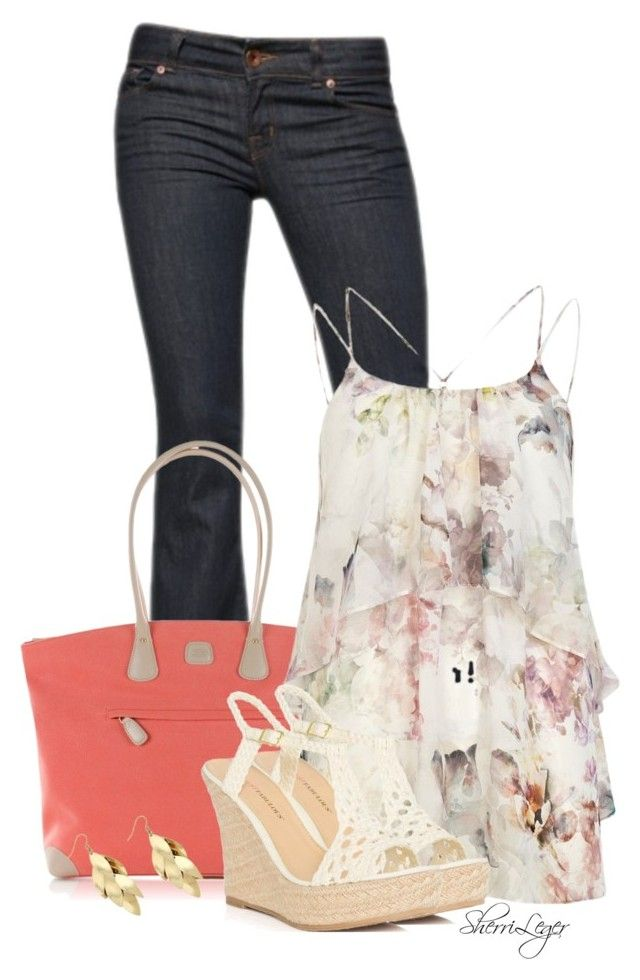 """""""Untitled #793"""" by sherri-leger ❤ liked on Polyvore featuring moda, J Brand, Bric's, River Island, JustFabulous e Red Herring"""