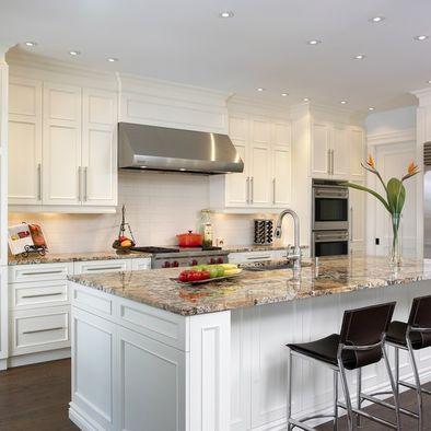 Granite Countertop With White Cabinets Granite Pinterest