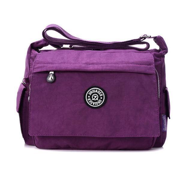 Jinqiaoer Women Nylon Light Bags Casual Waterproof Shoulder Outdoor Travel Crossbody Messenger