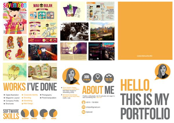 Portfolio Self Promo By Dyla Rosli Via Behance Self Promotion