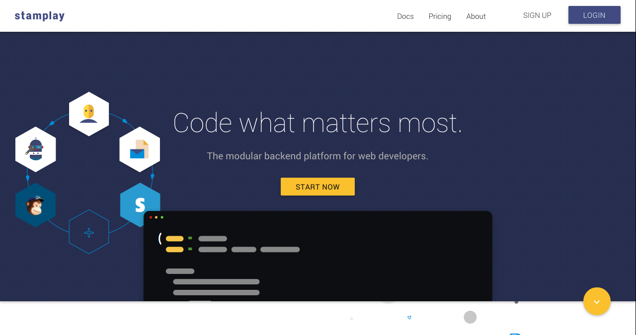 Stamplay is a complete backend platform that helps