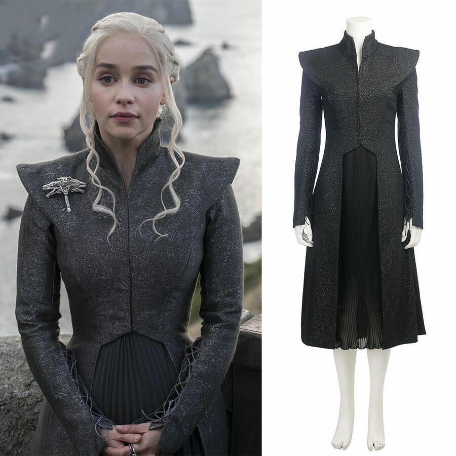 Game of Thrones Season 7 Daenerys Targaryen Dress Set Cosplay Costume Halloween