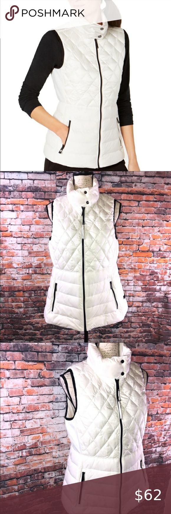 Calvin Klein Performance White Down Puffer Vest L White Puffer Vest Calvin Klein Clothes Design [ 1740 x 580 Pixel ]