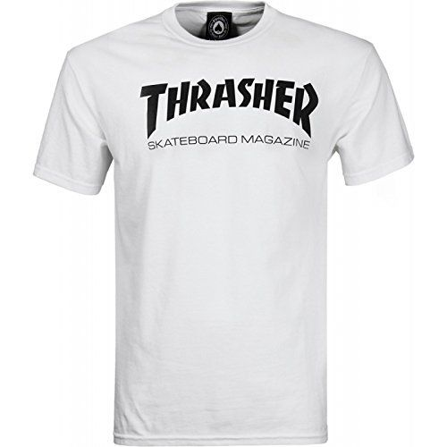t shirt trasher blanc