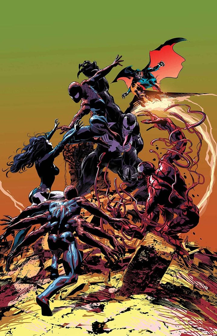 Venom & Spider-Man vs Carnage, Doppelganger, Shriek & Demogoblin by Mike Deodato Jr (TOXIN)