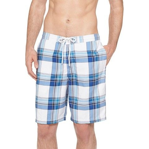 Our Inspiration: The fresh look of neutral plaid as seen in these shorts. Image via: Target.