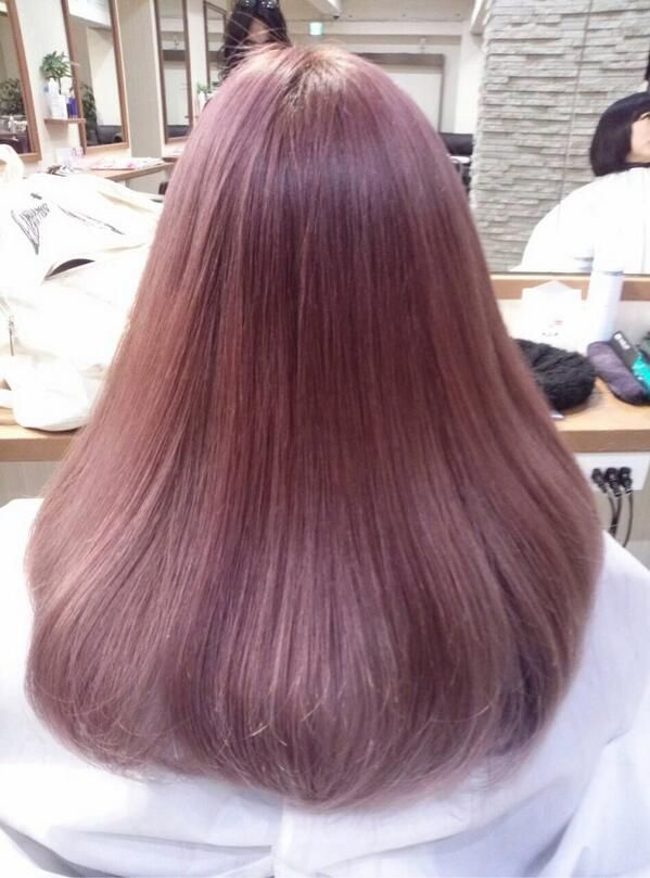 Brown hair with pink tint!  Hairspiration!  Hair, Brown hair korean, Korean hair color