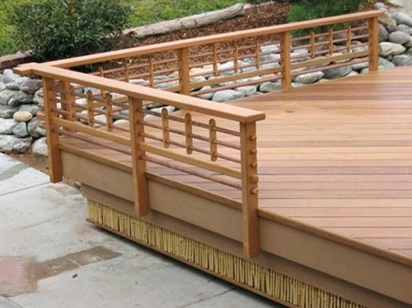 The Layout Of A Custom Made Deck Railing Is A Fantastic Area To Show Design In Your Custom Made Deck Rail Style If Yo Diy Deck Wood Deck Railing Deck Railings