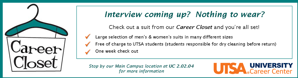 Need A Suit For Your Interview Visit The Utsa Career Center